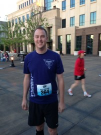 The first half marathon of five that I ran last year.