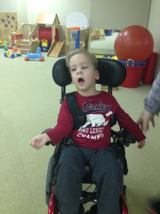 River after they took the speech device off of his wheelchair.